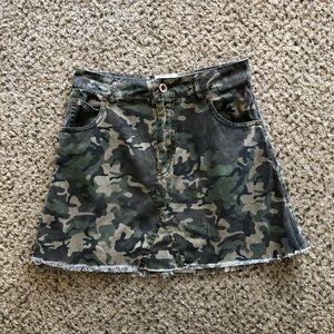 Camo Cotton Skirt
